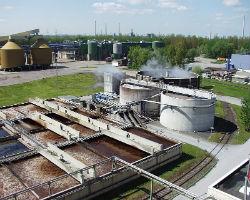 Станция очистки сточных вод промышленных предприятий.