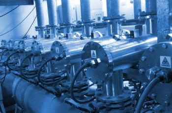 Промышленные установки для обеззараживания.