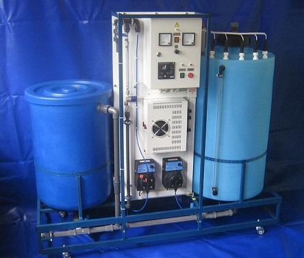 Оборудование для дозирования реагентов для обеззараживания воды.