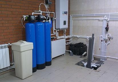 Пример расположения фильтров для скважины внутри дома.
