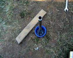 Готовая абиссинская скважина, укрепленная галькой