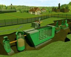 Схема биологической очистки бытовых сточных вод.