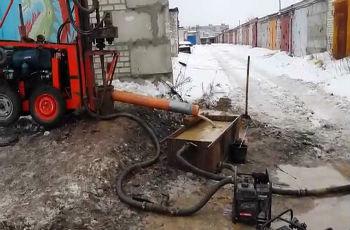 Прокачка уже разработанной скважины зимой