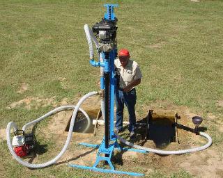 Процесс использования мини-установки для разработки скважины