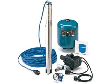 Набор оборудования для водоснабжения со скважинным насосом Grundfos SQ 3-40
