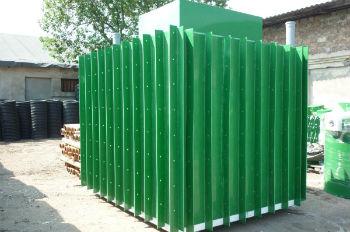 Пластиковый погреб-кессон, готовый к установке