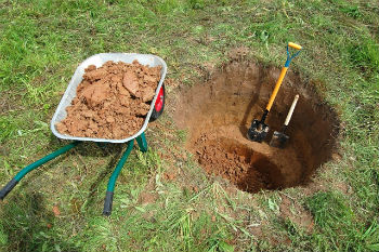 Разработка грунта для формирования колодца закрытым способом