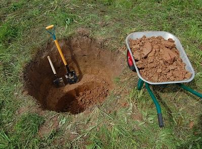 Выкапывание ямы под колодец