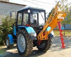 Ямобур на базе трактора МТЗ