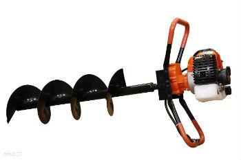 Стандартный одноместный мотобур с крупным шнеком, диаметром 250 ммком