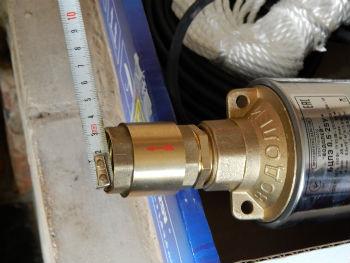 Измерение входного отверстия под шланг в насосе Водолей
