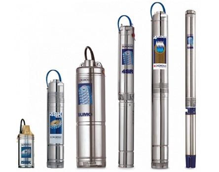 Несколько моделей скважинных насосов Pedrollo