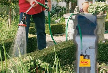 Использование погружного насоса AL-KO для полива