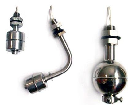 Поплавковые датчики уровня воды различной конструкции