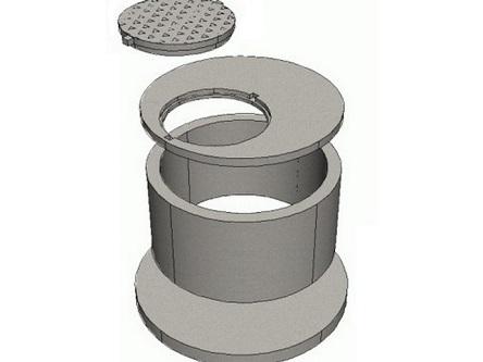 Схема порядка монтажа плиты перекрытия колодца