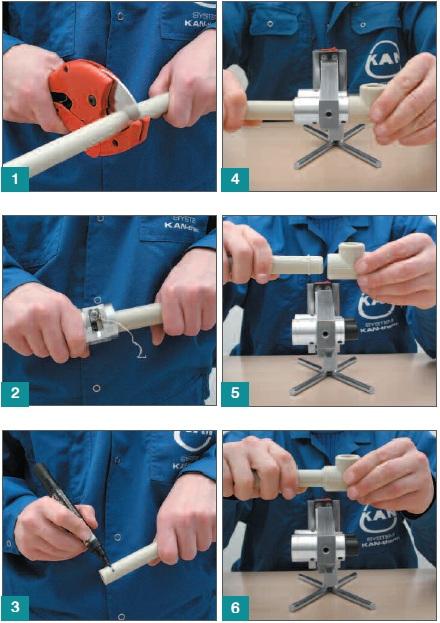 Основные этапы процесса пайки полипропиленовых труб