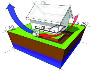 Принципиальная схема теплового насоса воздух-вода