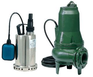 Две самых популярных конструкции дренажных насосов для канализации