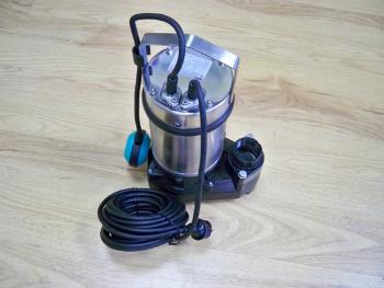 Мощный дренажный насос с кабелем питания и поплавком