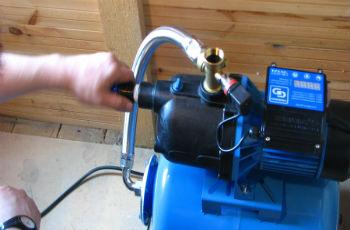 Подключение поверхностного насоса к гидроаккумулятору