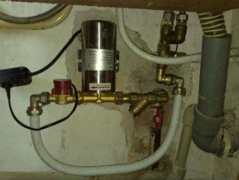 Пример подключения насоса для повышения давления воды
