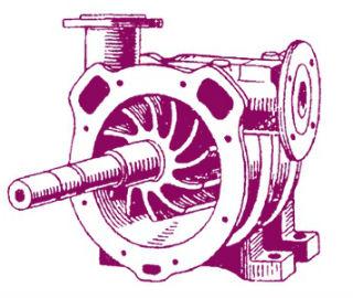 Изображение внутренностей водокольцевого вакуумного насоса