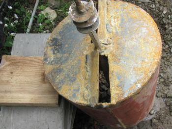 Камера для забора грунта в буре ТИСЭ крупных размеров