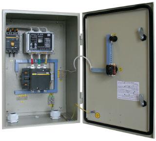 Простейший шкаф управления с элементарной защитой для насоса