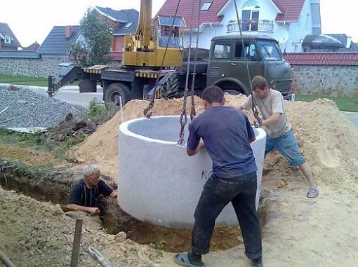 При строительстве колодца следует соблюдать правила техники безопасности