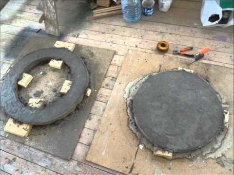 Бетонирование крышки для колодца