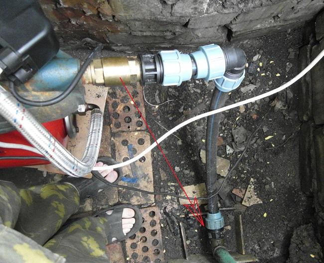 Обратный клапан на насосной станции