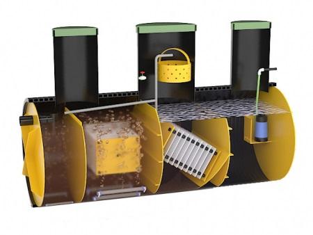 Пример использования насоса в септике